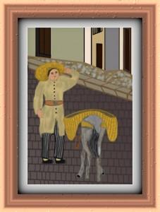 hombre con burro